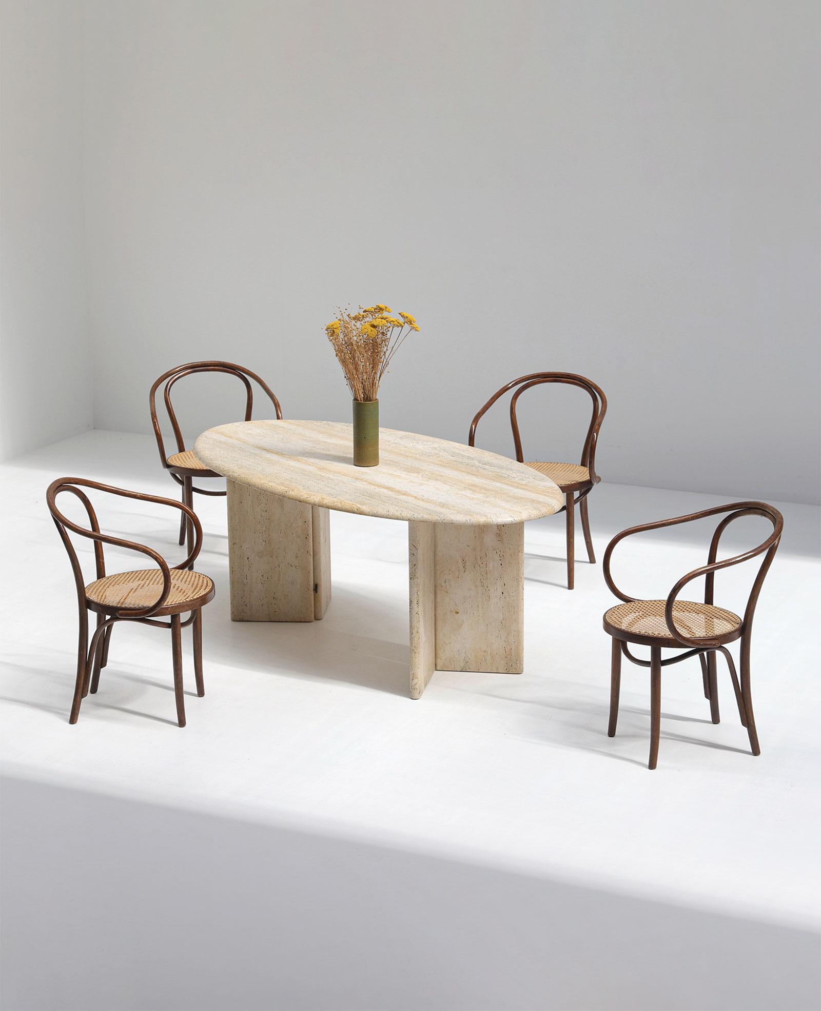 Travertin Dining Table