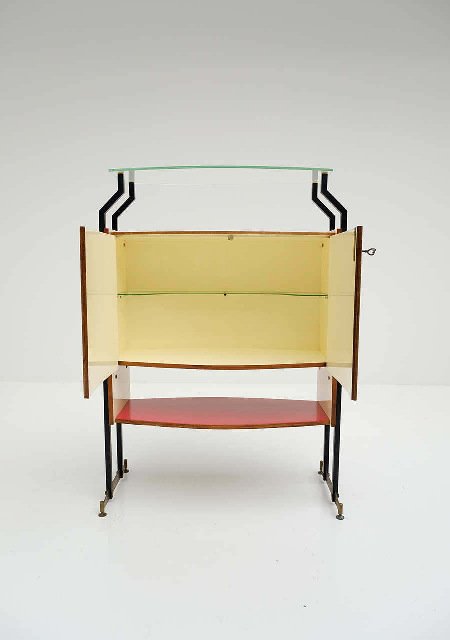 1950s Italian Cocktail bar Cabinetimage 8