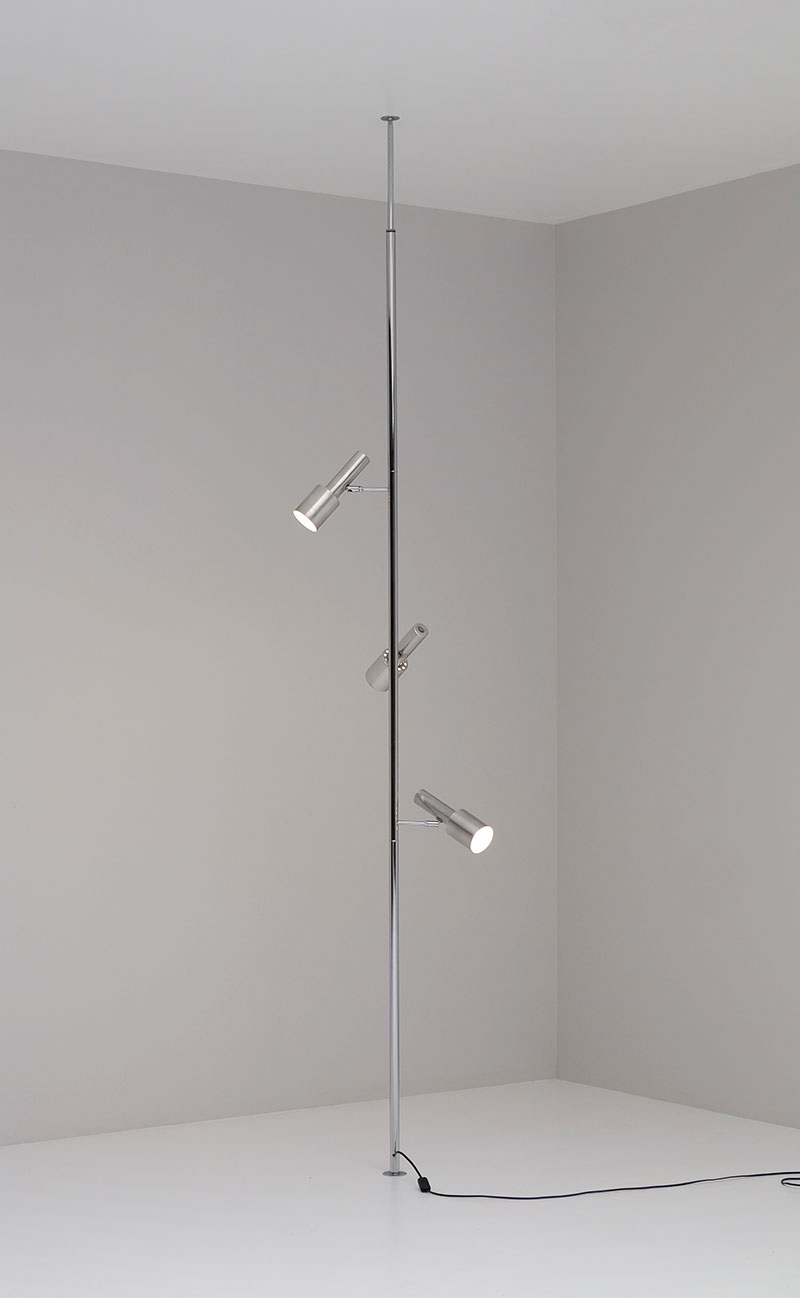 Minimalistic 60S Adjustable Pole Floor Lamp image 1