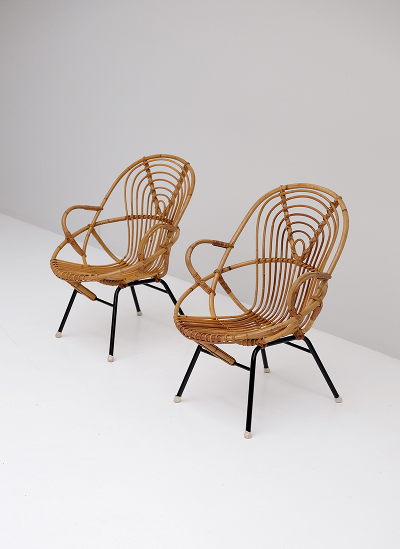 Rattan Side Chairs designed by Dirk van Sliedregt image 2