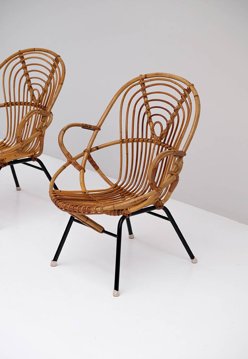 Rattan Side Chairs designed by Dirk van Sliedregt image 3