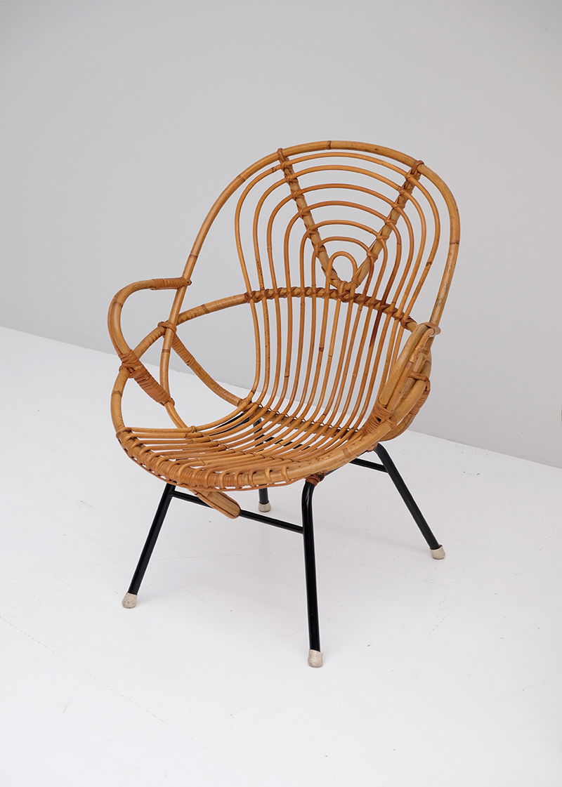 Rattan Side Chairs designed by Dirk van Sliedregt image 4