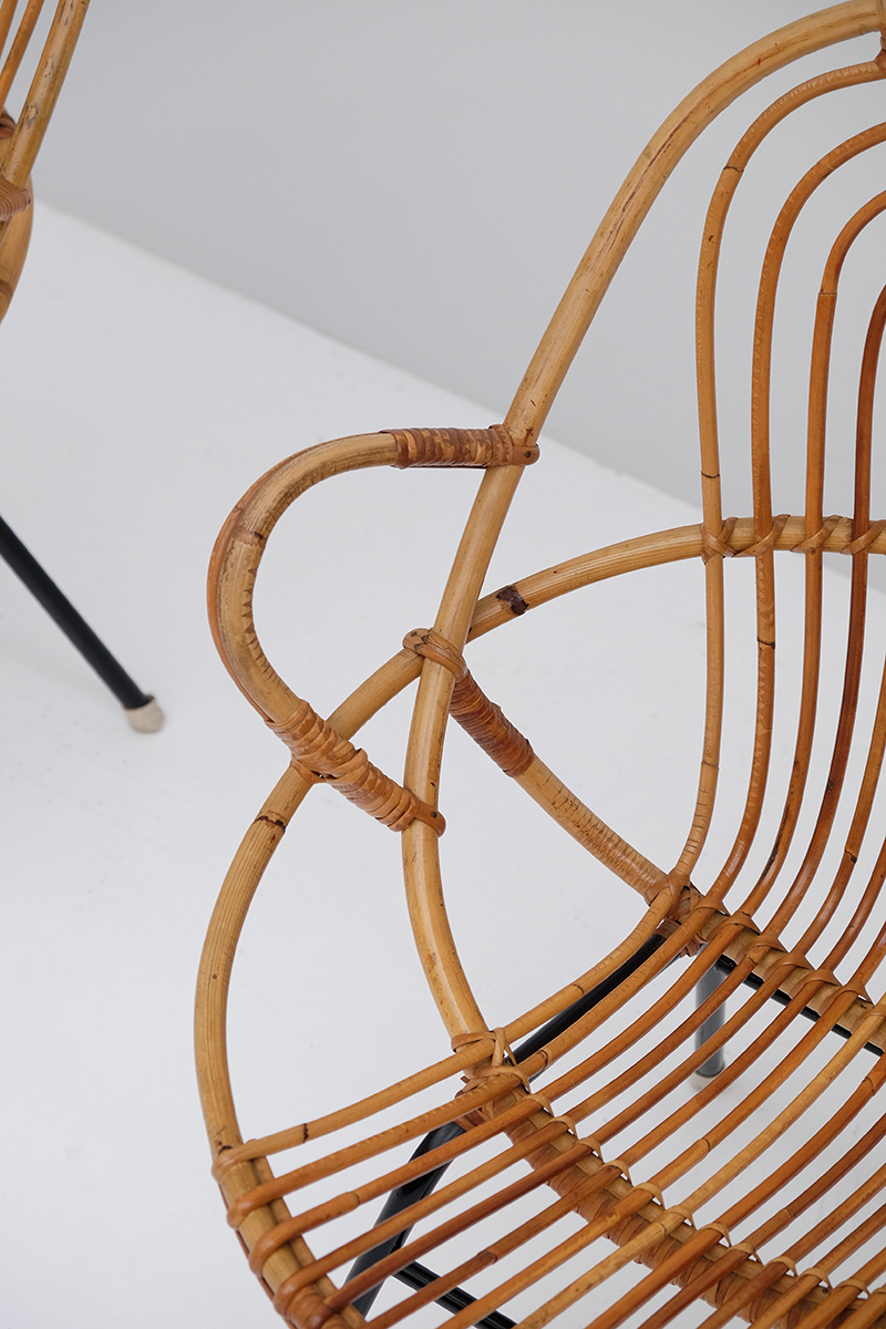 Rattan Side Chairs designed by Dirk van Sliedregt image 5