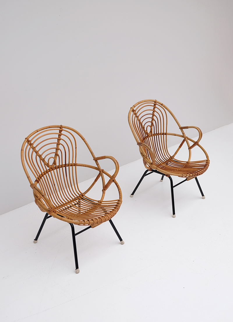 Rattan Side Chairs designed by Dirk van Sliedregt image 8