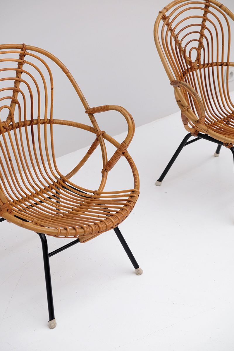 Rattan Side Chairs designed by Dirk van Sliedregt image 9