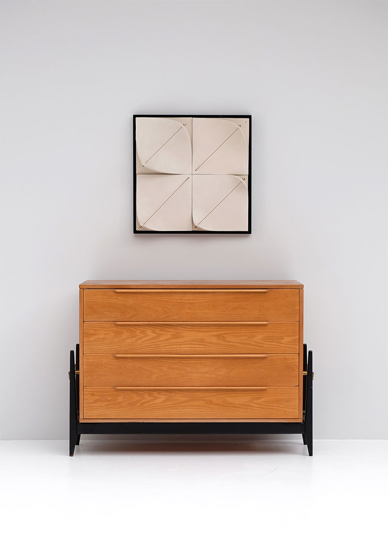 Elegant 50s Belgian Chest with Drawers image 1