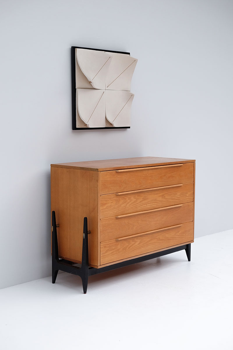 Elegant 50s Belgian Chest with Drawers image 5