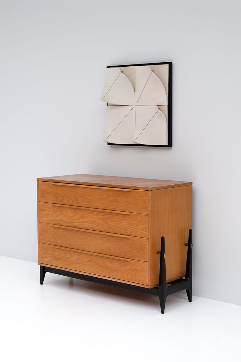 Elegant 50s Belgian Chest with Drawers image 6