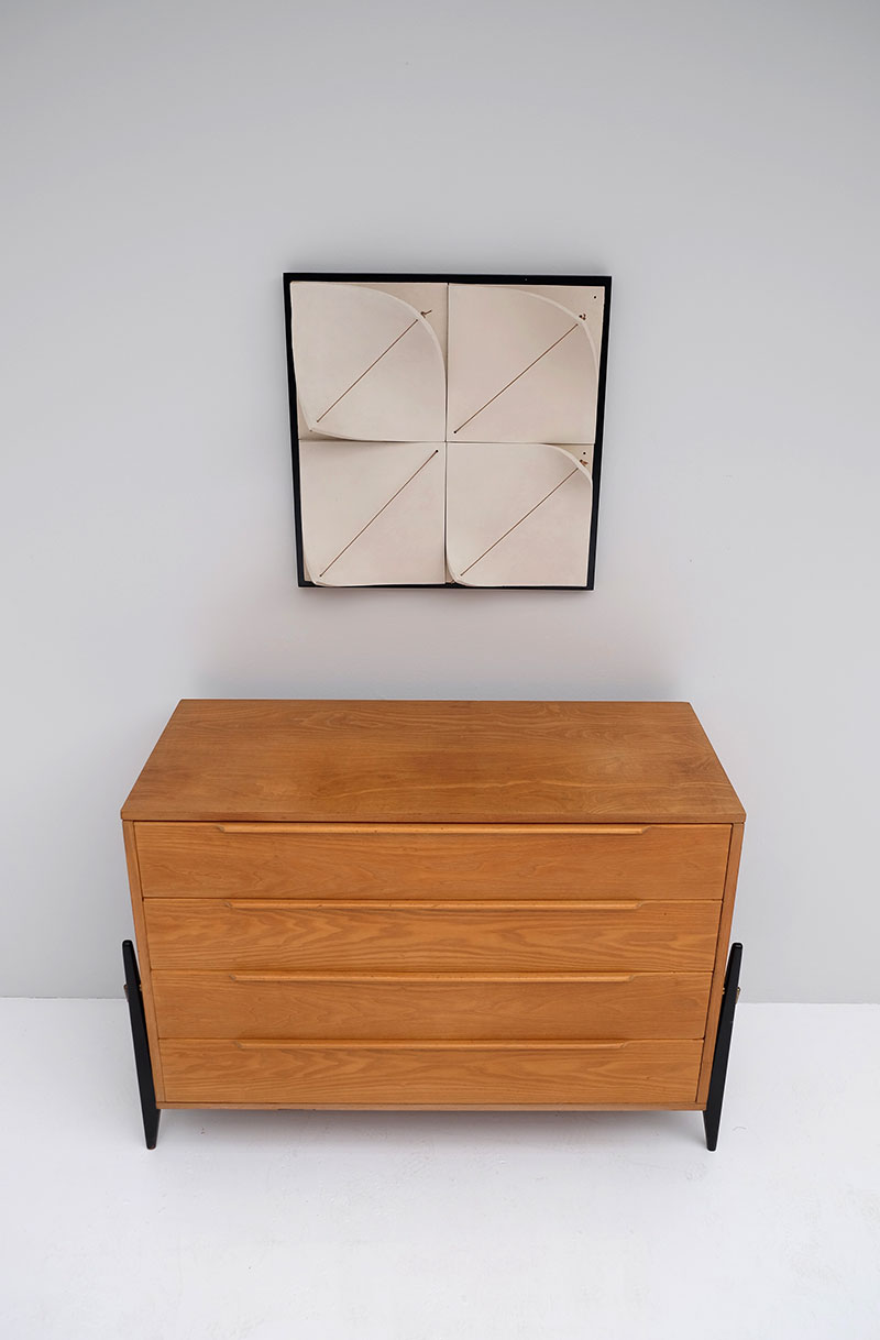 Elegant 50s Belgian Chest with Drawers image 2