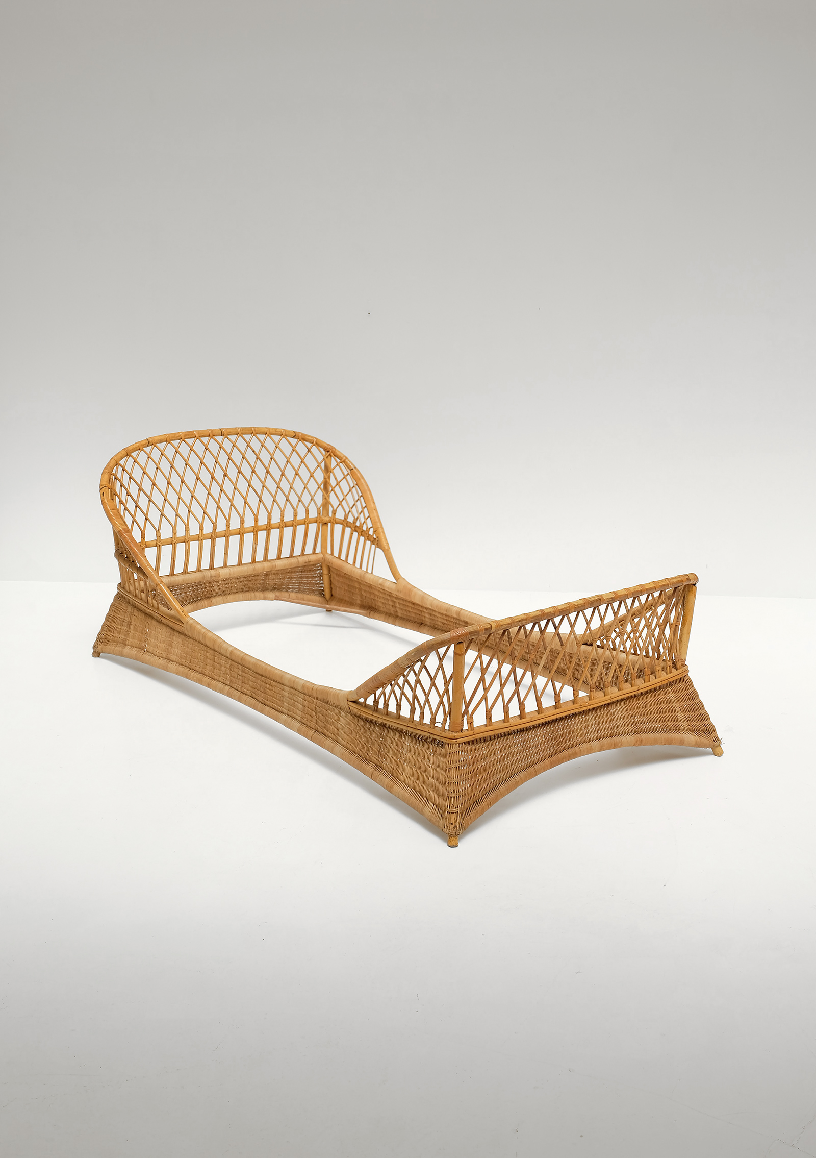 Two 1950s Rattan Daybedsimage 2