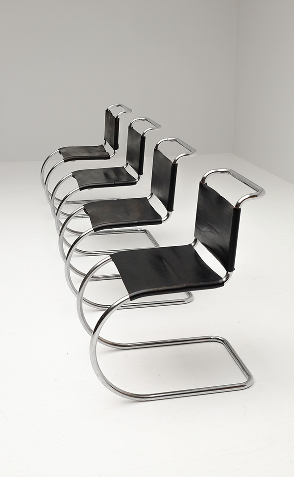 Chairs, Mies van der Rohe, Knoll, Leather, black, Germany