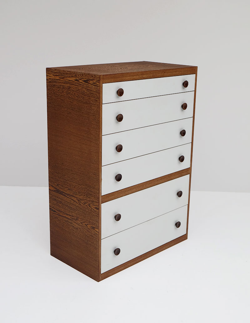 1970S WENGE CHEST WITH DRAWERS. image 4