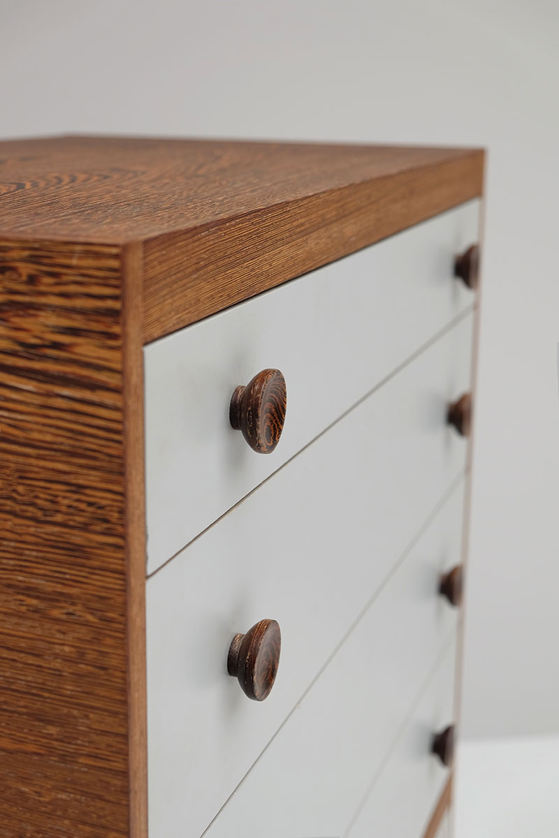 1970S WENGE CHEST WITH DRAWERS. image 5