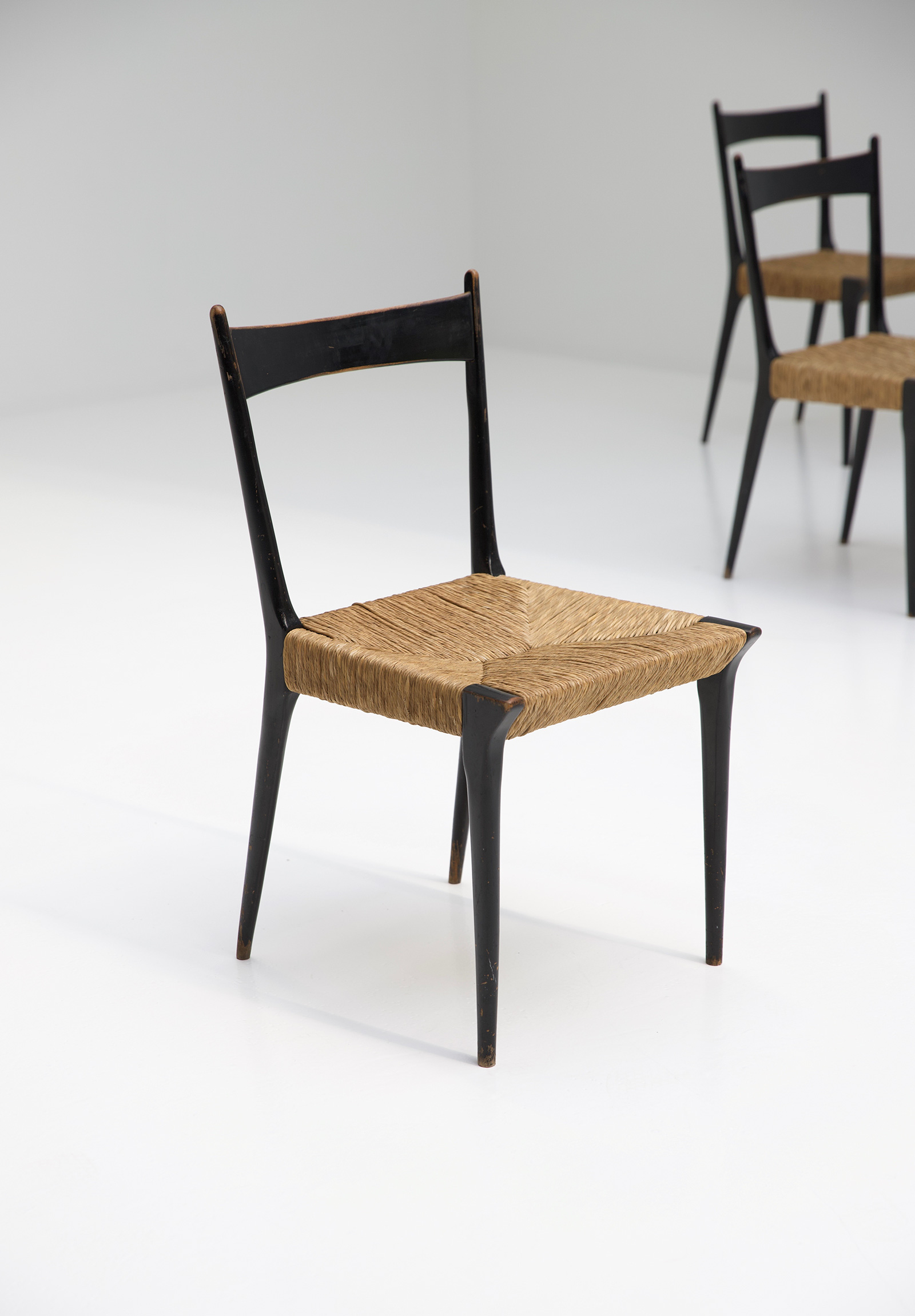 Alfred Hendrickx Woven Cane S2 Chairs