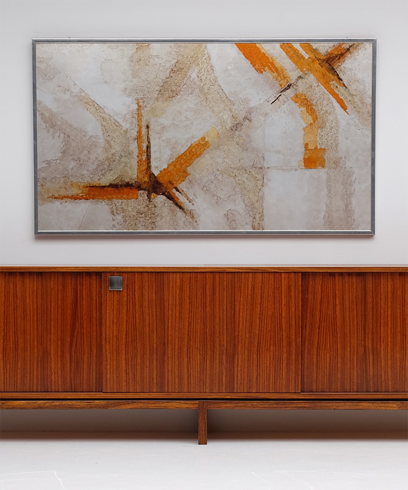 Alfred Hendrickx Minimalist Credenza In Zingana Wood image 2