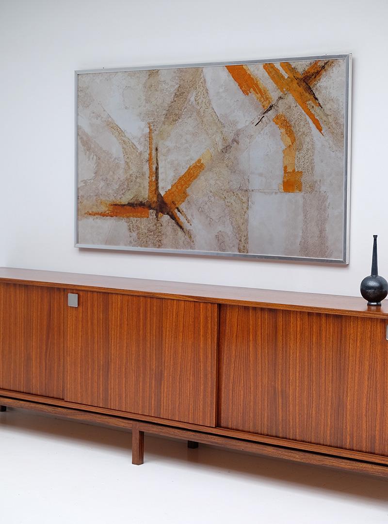 Alfred Hendrickx Minimalist Credenza In Zingana Wood image 8