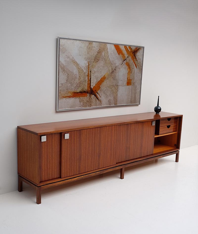Alfred Hendrickx Minimalist Credenza In Zingana Wood image 4