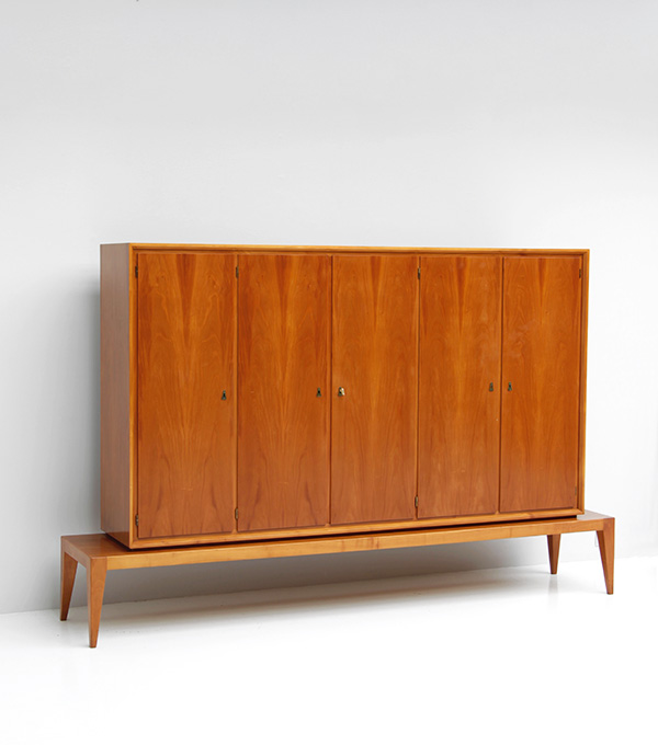 DECORATIVE WALNUT CABINET 1950S