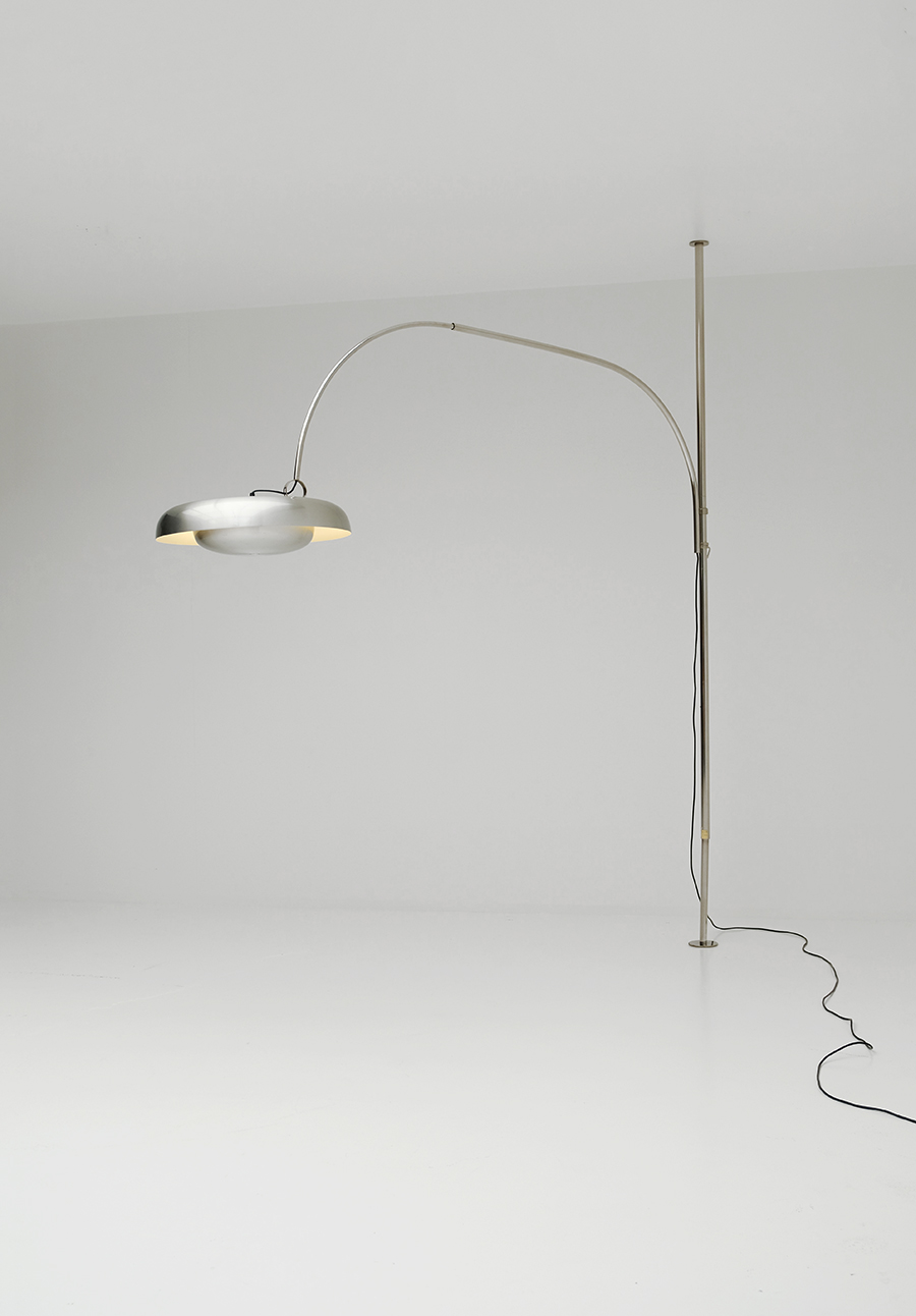 Arc lamp by Pirro Cuniberti for Sirrah Imola