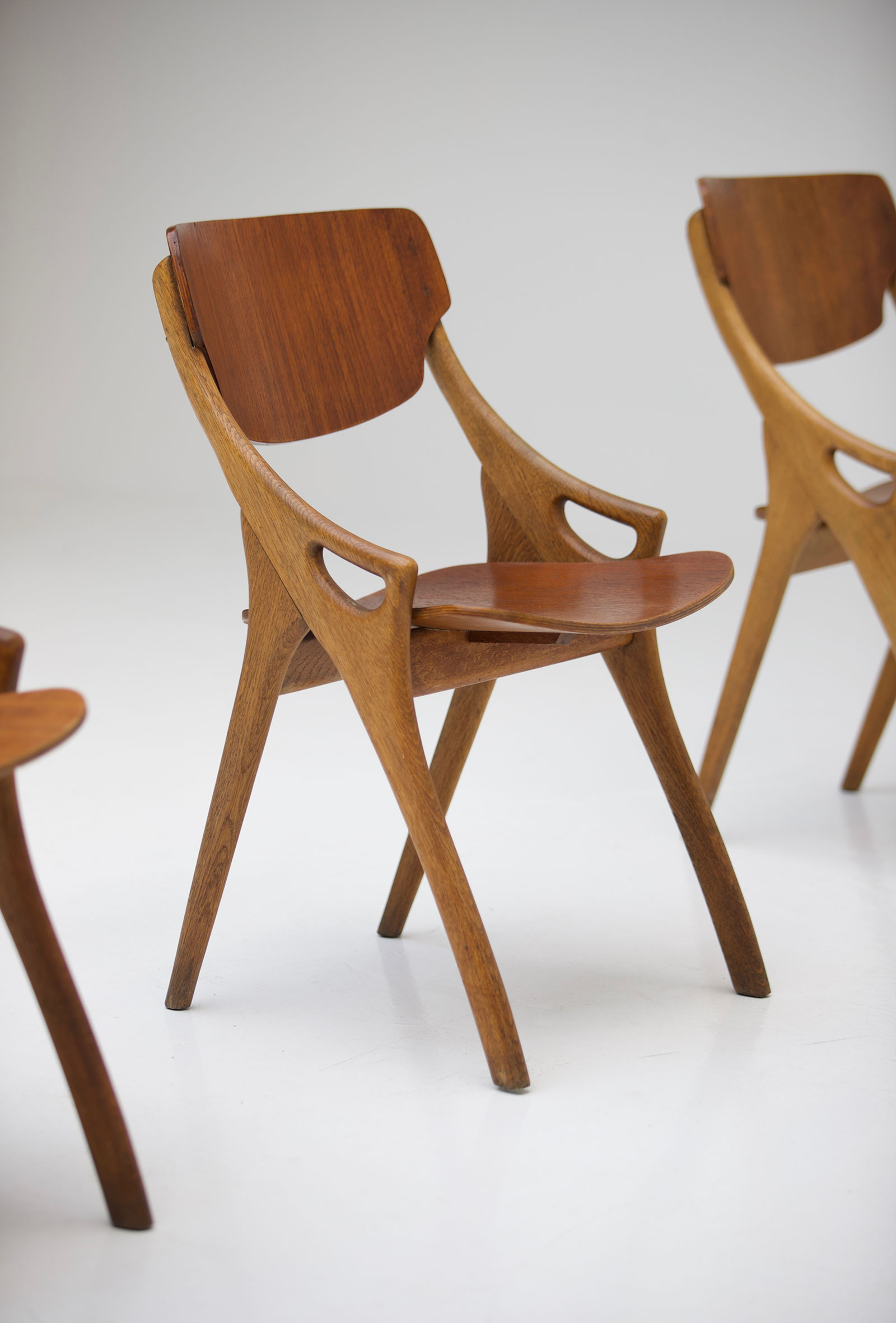 arne hovmand olsen oak dining chairs