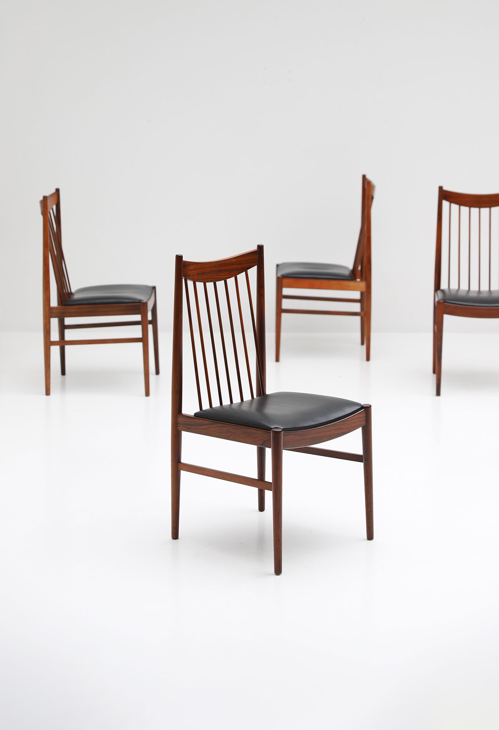 Rosewood Dining Chairs by Arne Vodder for Sibast, 1960s