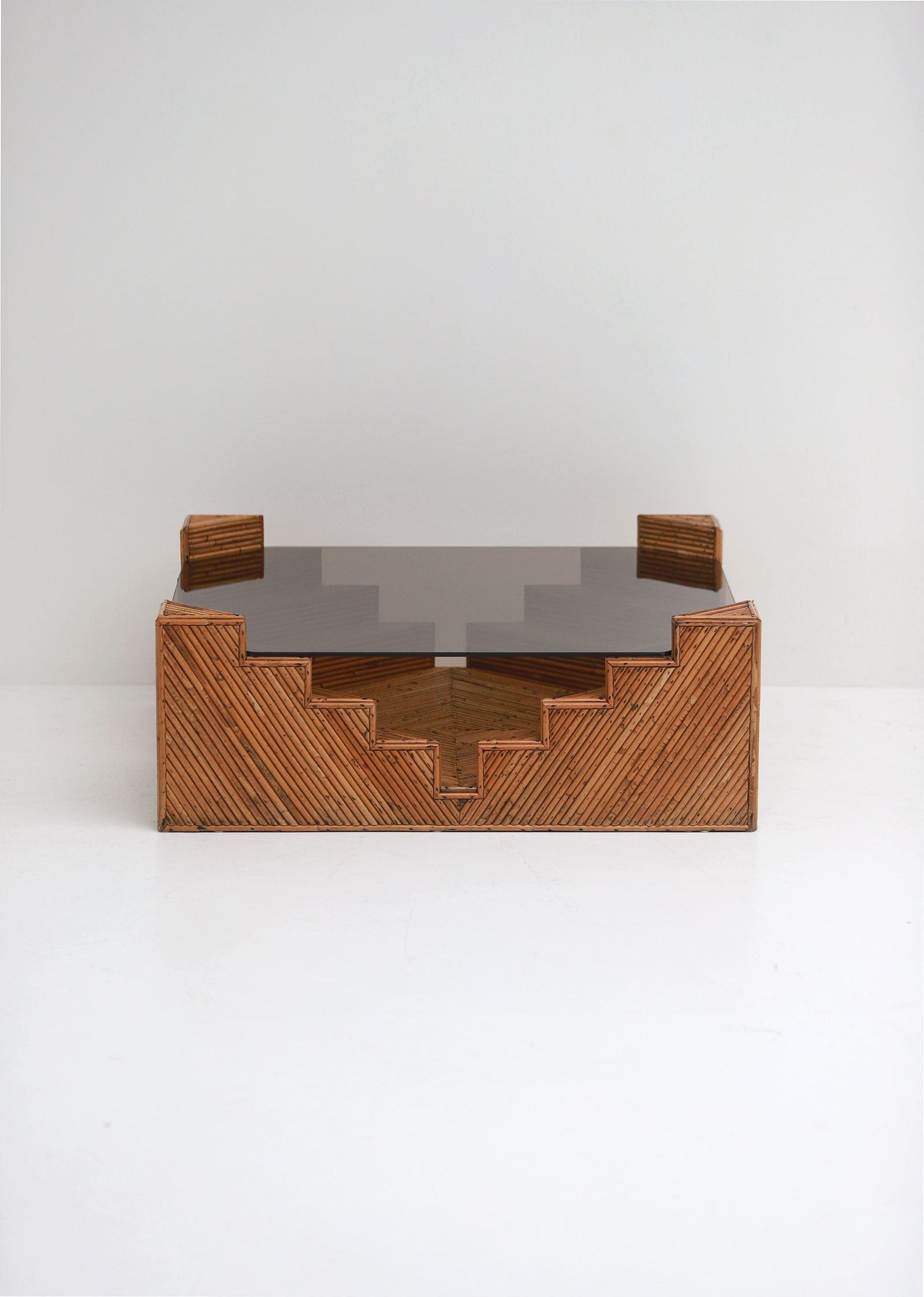 Decorative bamboo coffee table 1970image 5