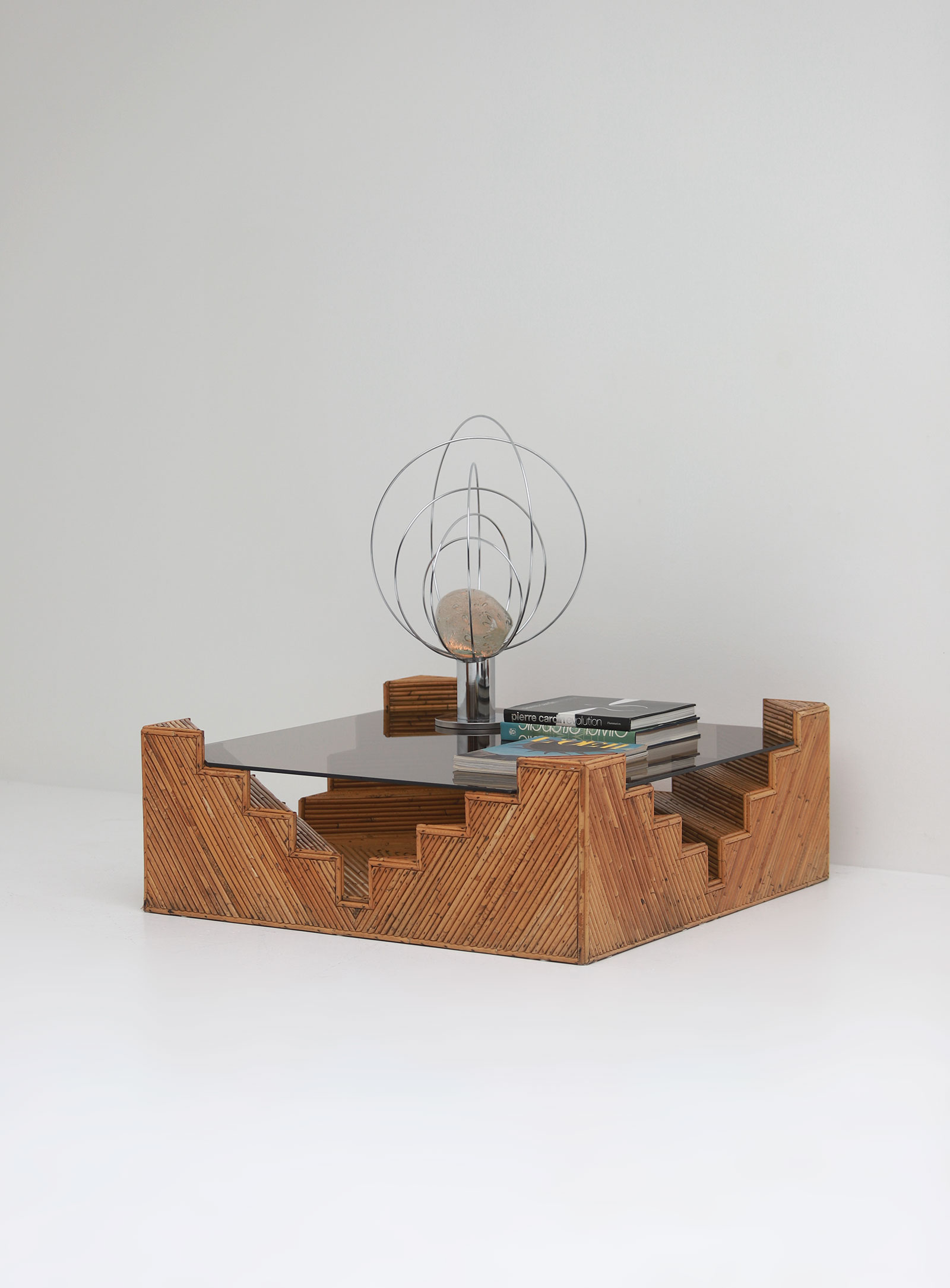 Decorative bamboo coffee table 1970image 2