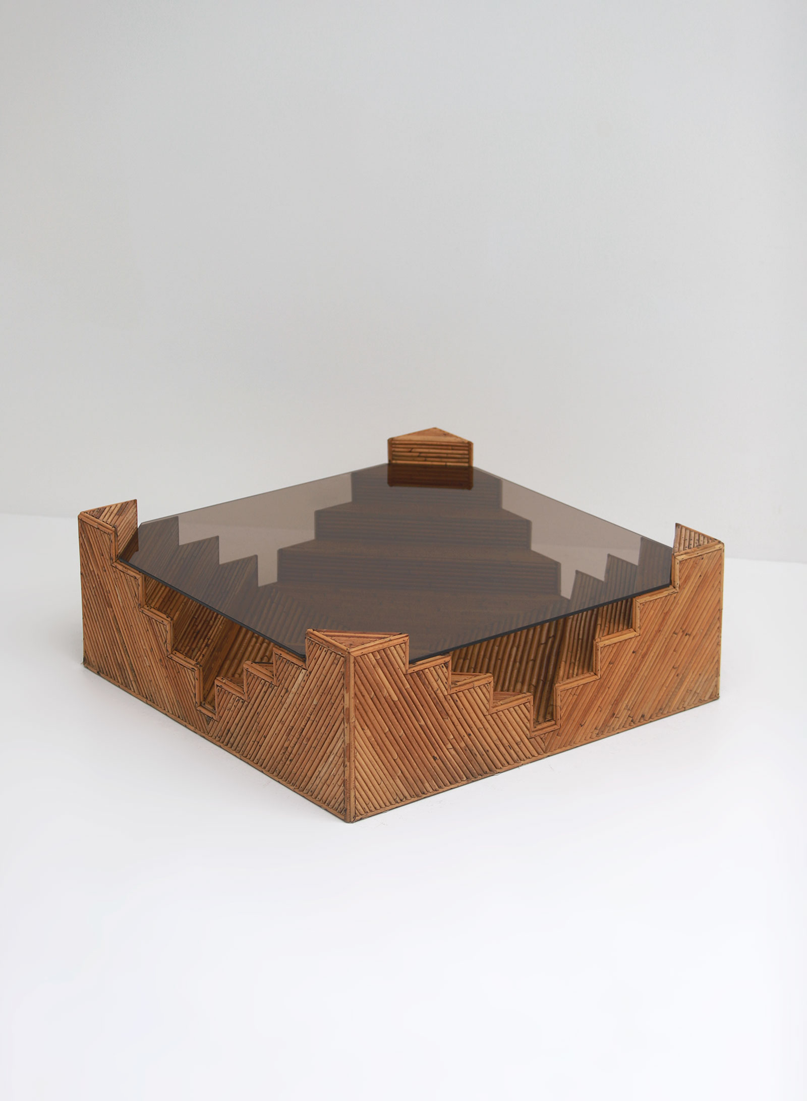 Decorative bamboo coffee table 1970image 7