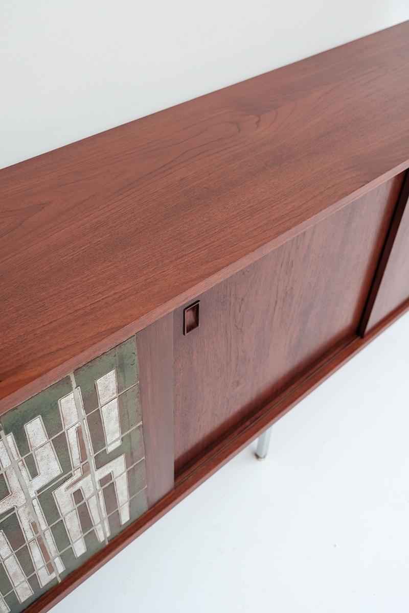 1950s Belform Sideboard with Ceramic Artwork