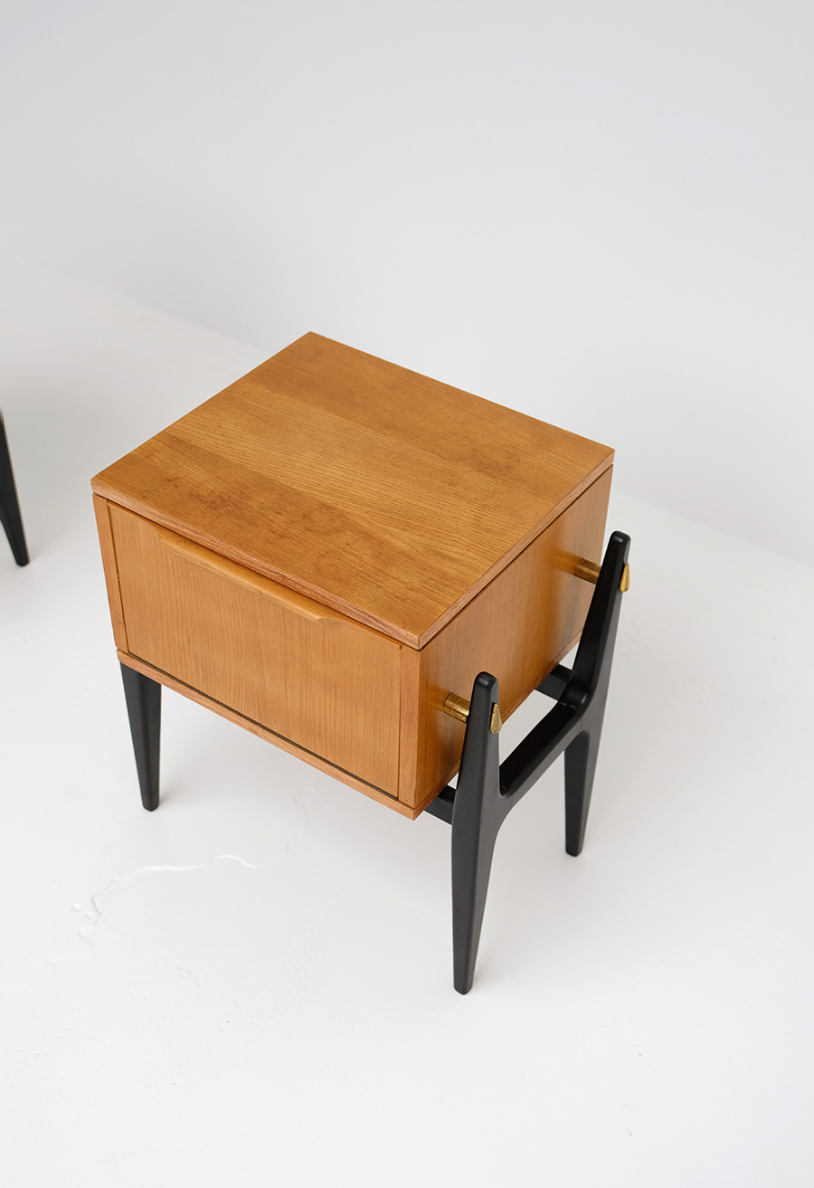 Pair of decorative night stands 1950simage 2