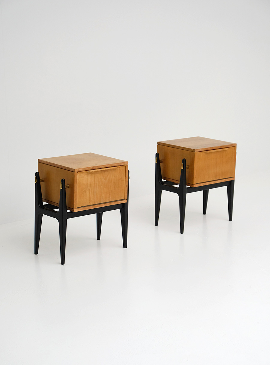 Pair of decorative night stands 1950simage 1