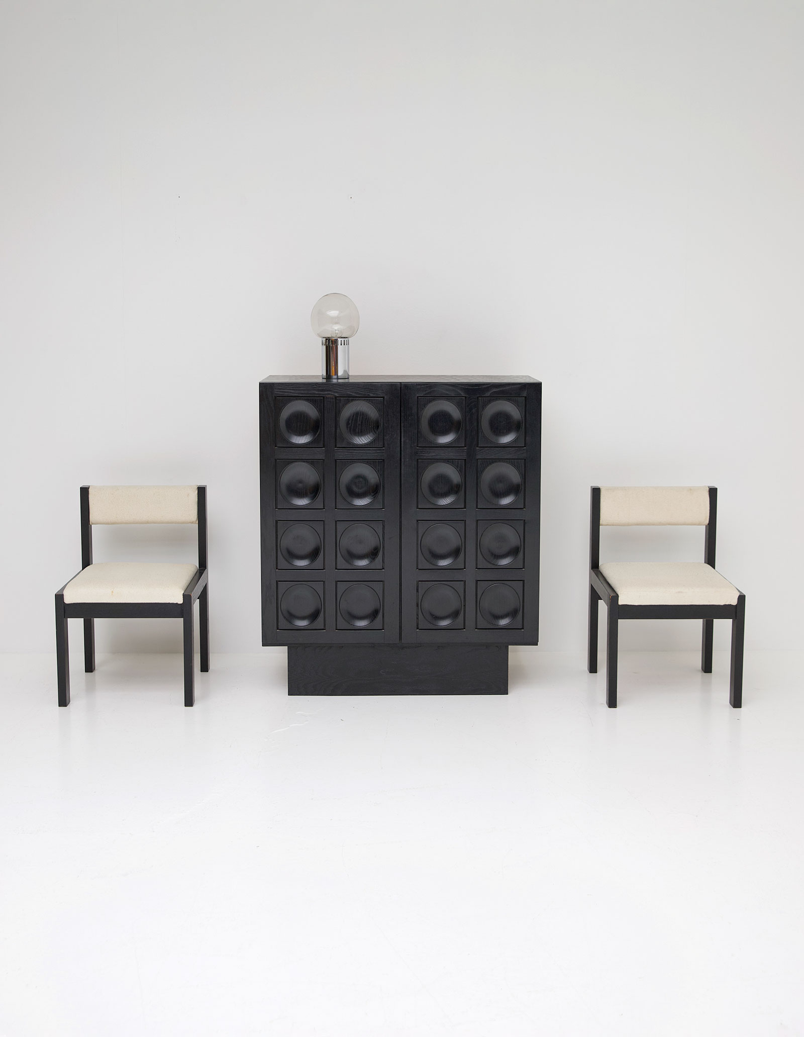 Black Ebonised Brutalist Bar / Cabinetimage 1