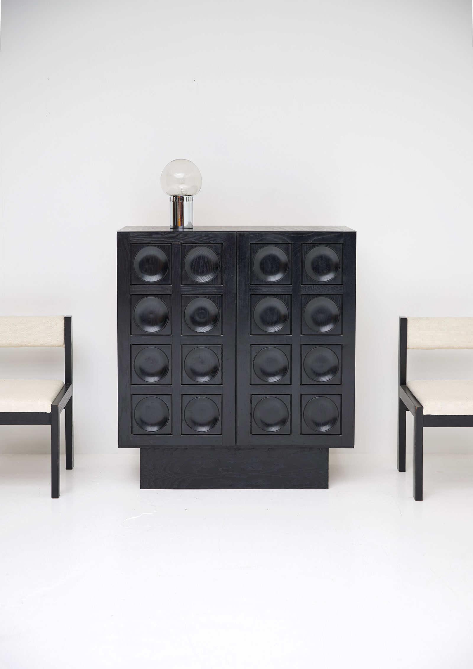 Black Ebonised Brutalist Bar / Cabinetimage 2