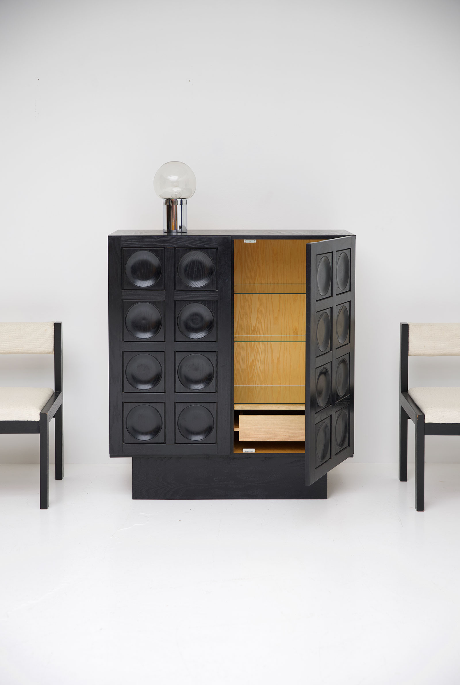 Black Ebonised Brutalist Bar / Cabinetimage 5