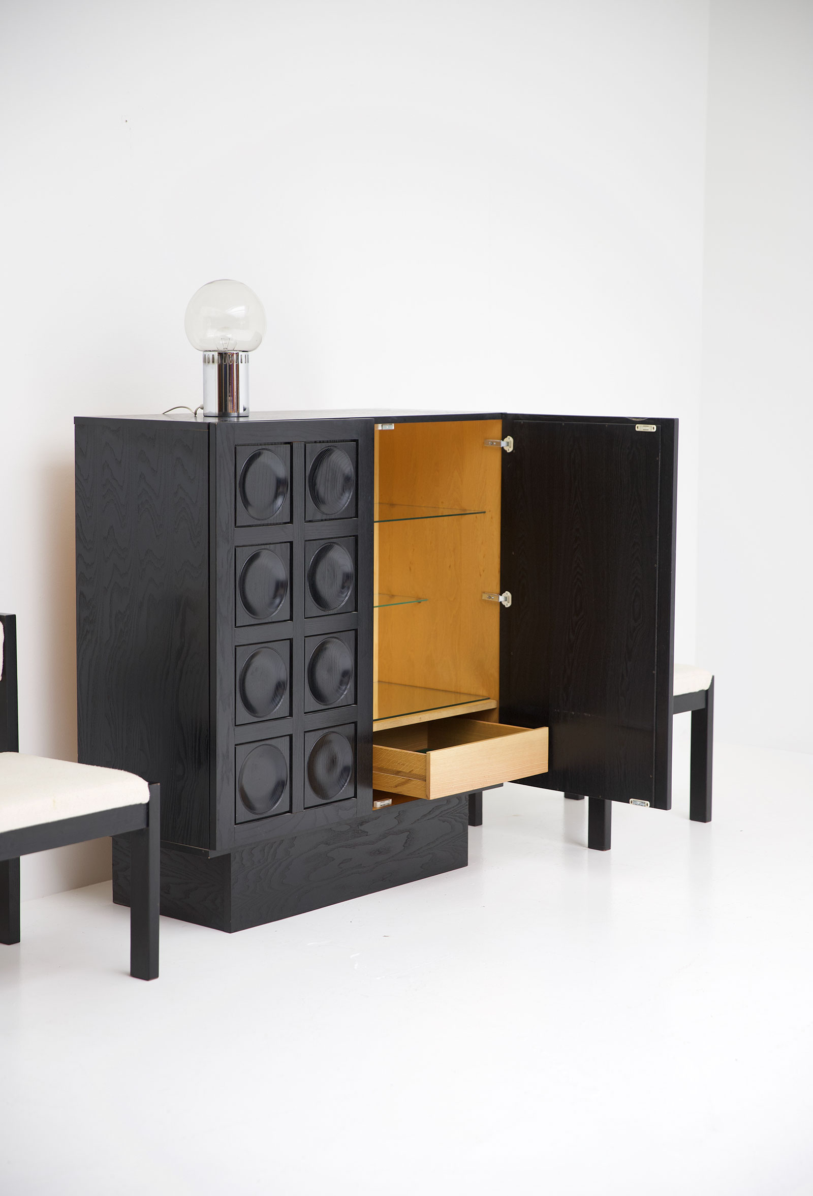 Black Ebonised Brutalist Bar / Cabinetimage 7