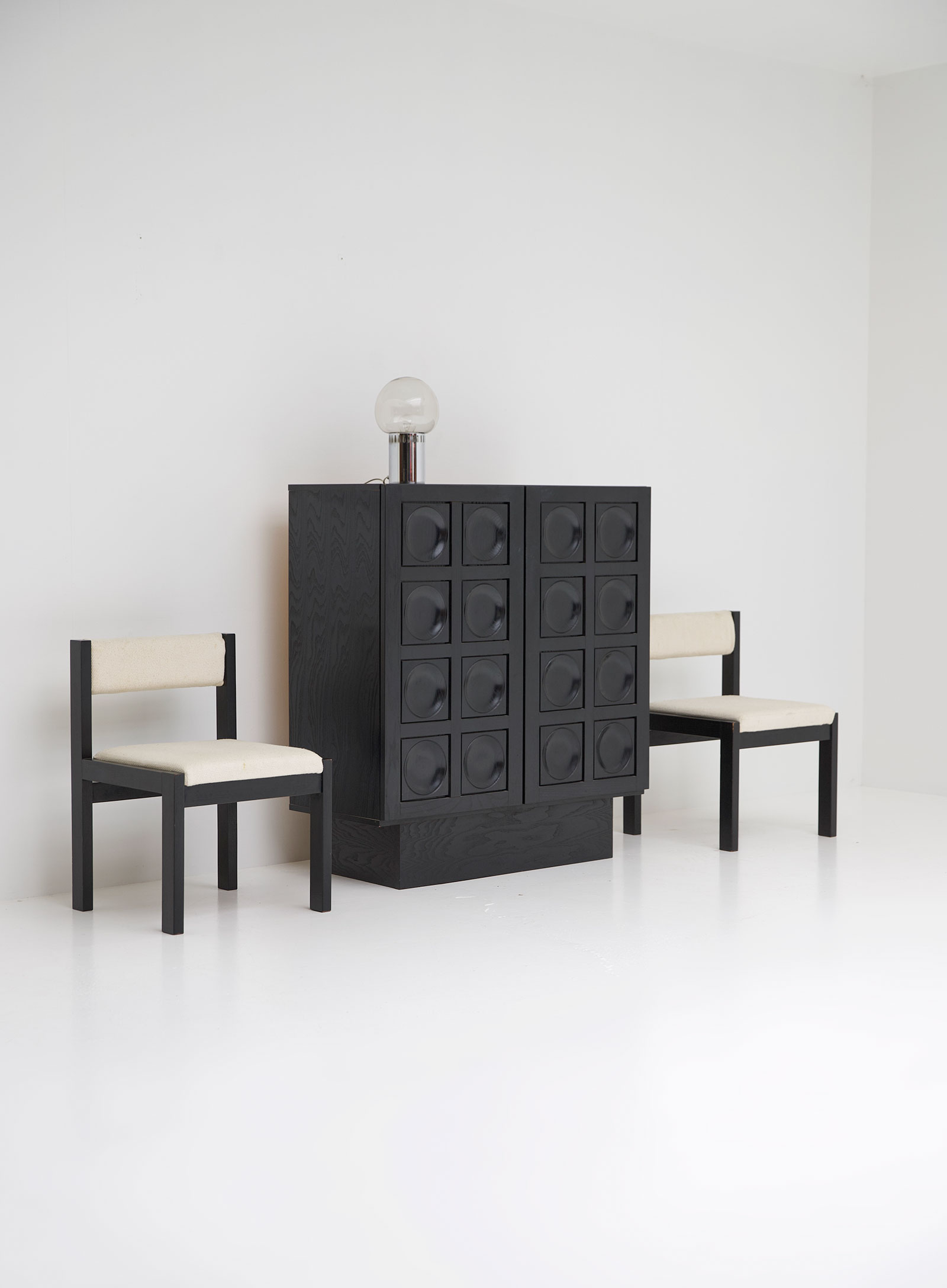 Black Ebonised Brutalist Bar / Cabinetimage 6