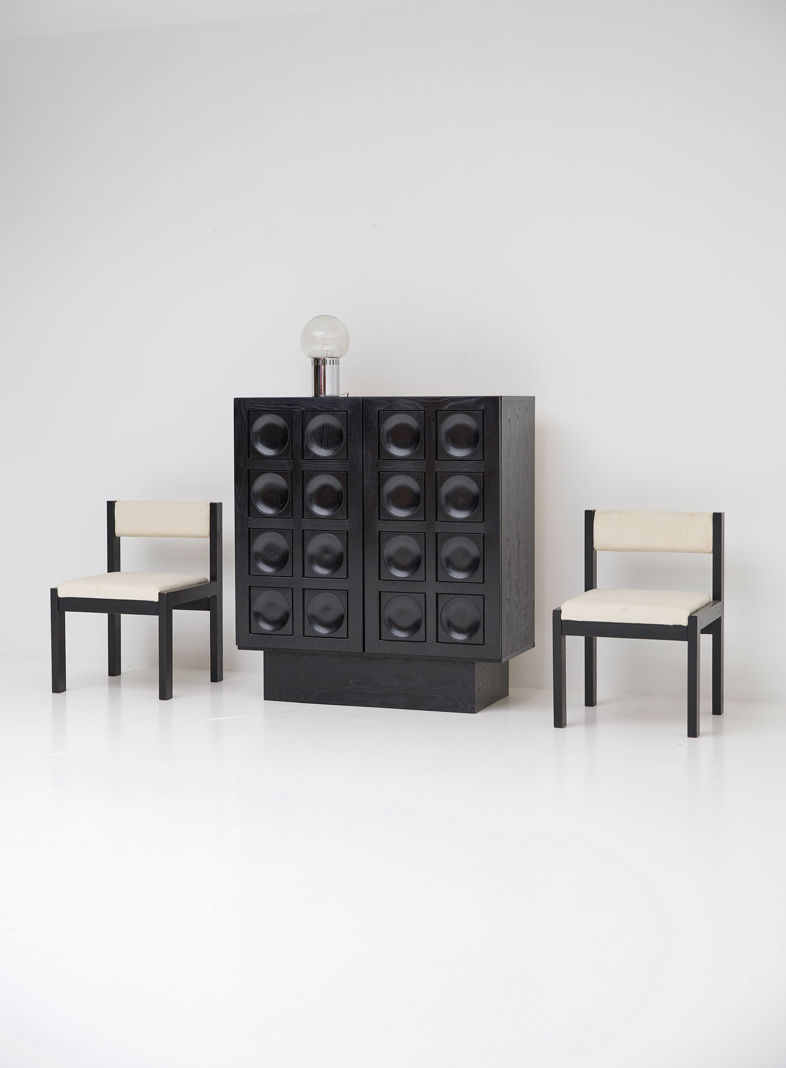 Black Ebonised Brutalist Bar / Cabinetimage 8