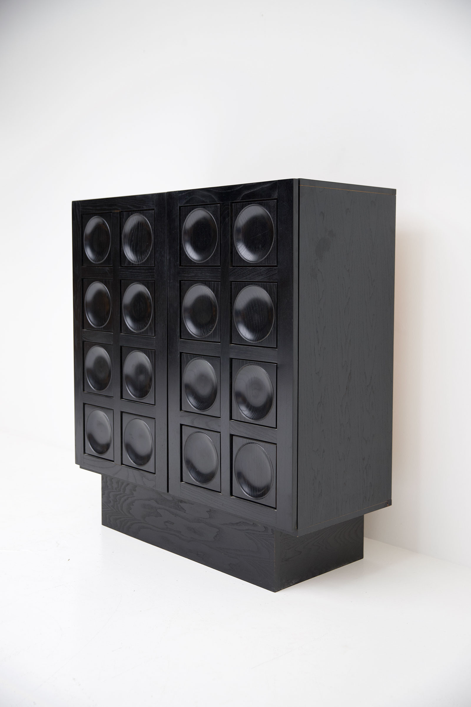 Black Ebonised Brutalist Bar / Cabinetimage 9