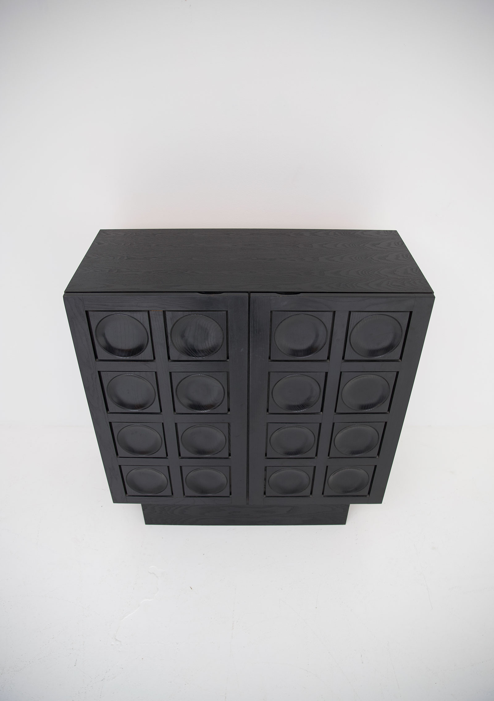 Black Ebonised Brutalist Bar / Cabinetimage 11