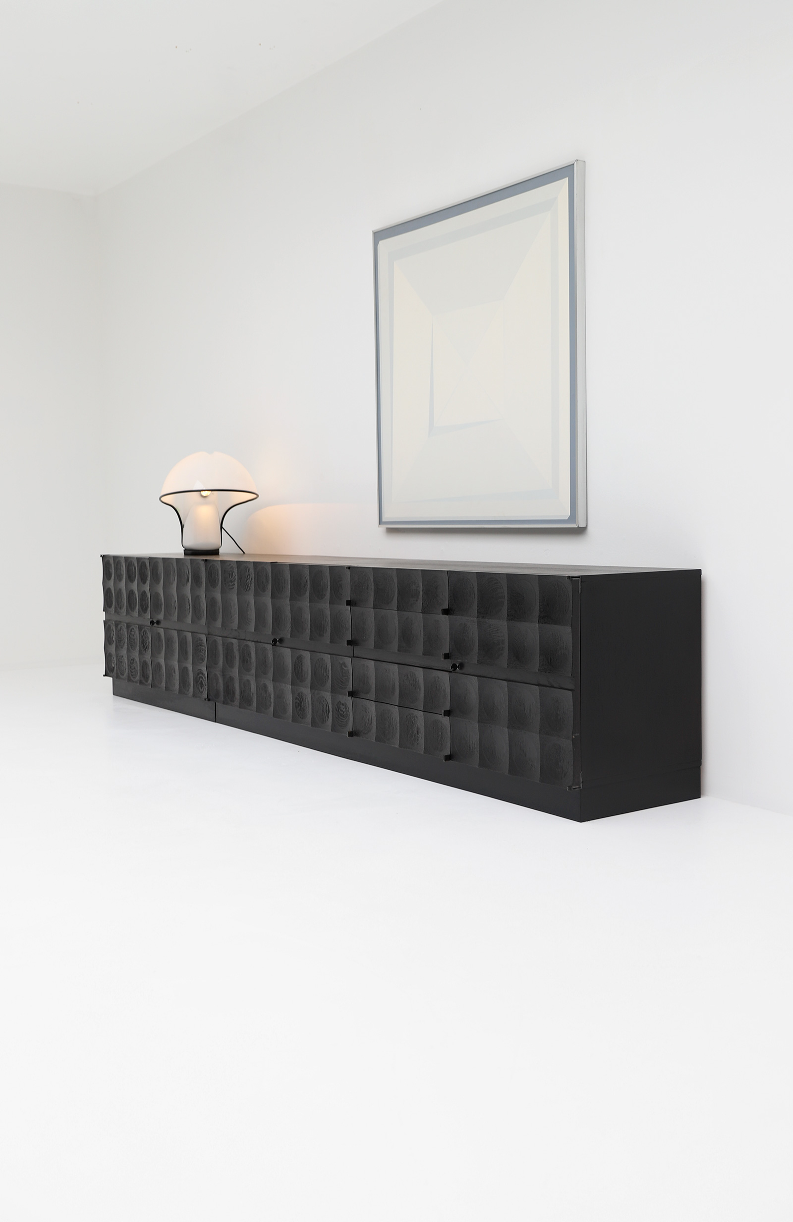 Large Credenza with Graphic Doors circa 1970image 1