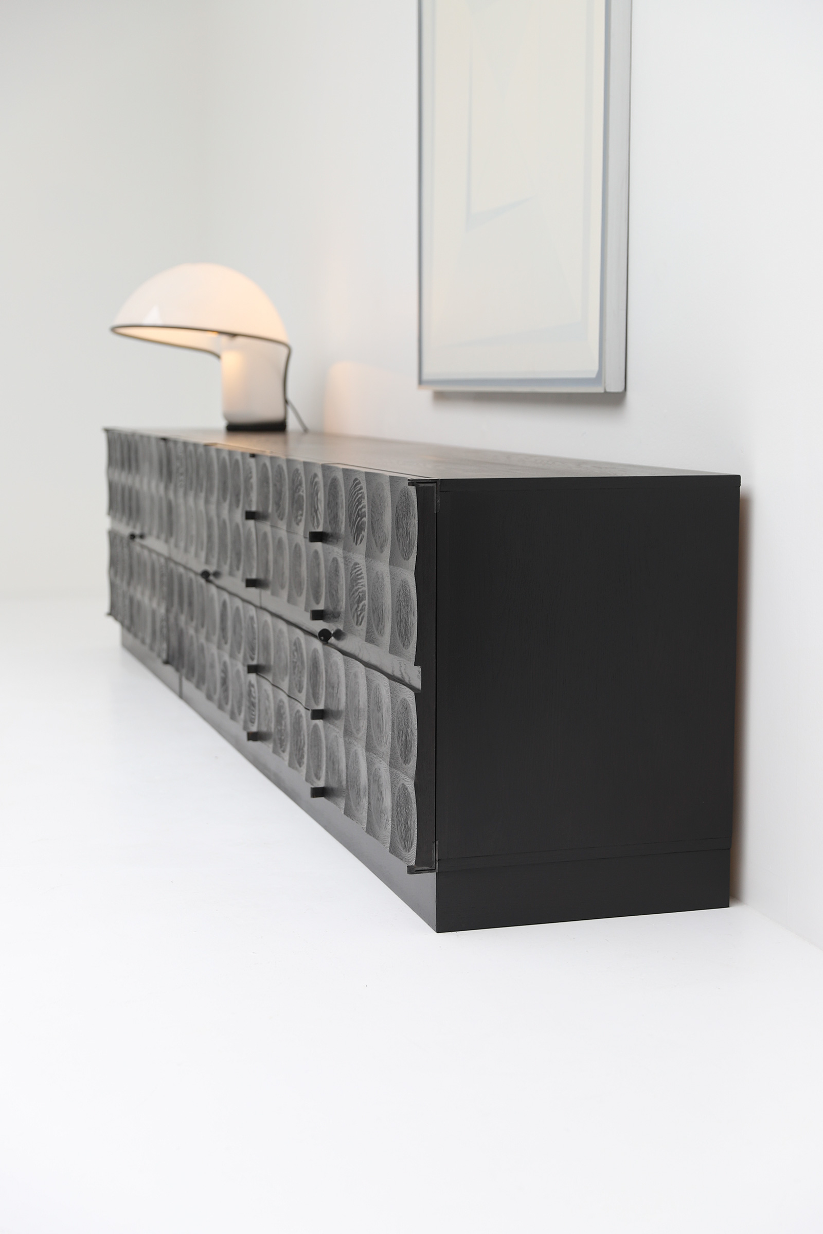 Large Credenza with Graphic Doors circa 1970image 3