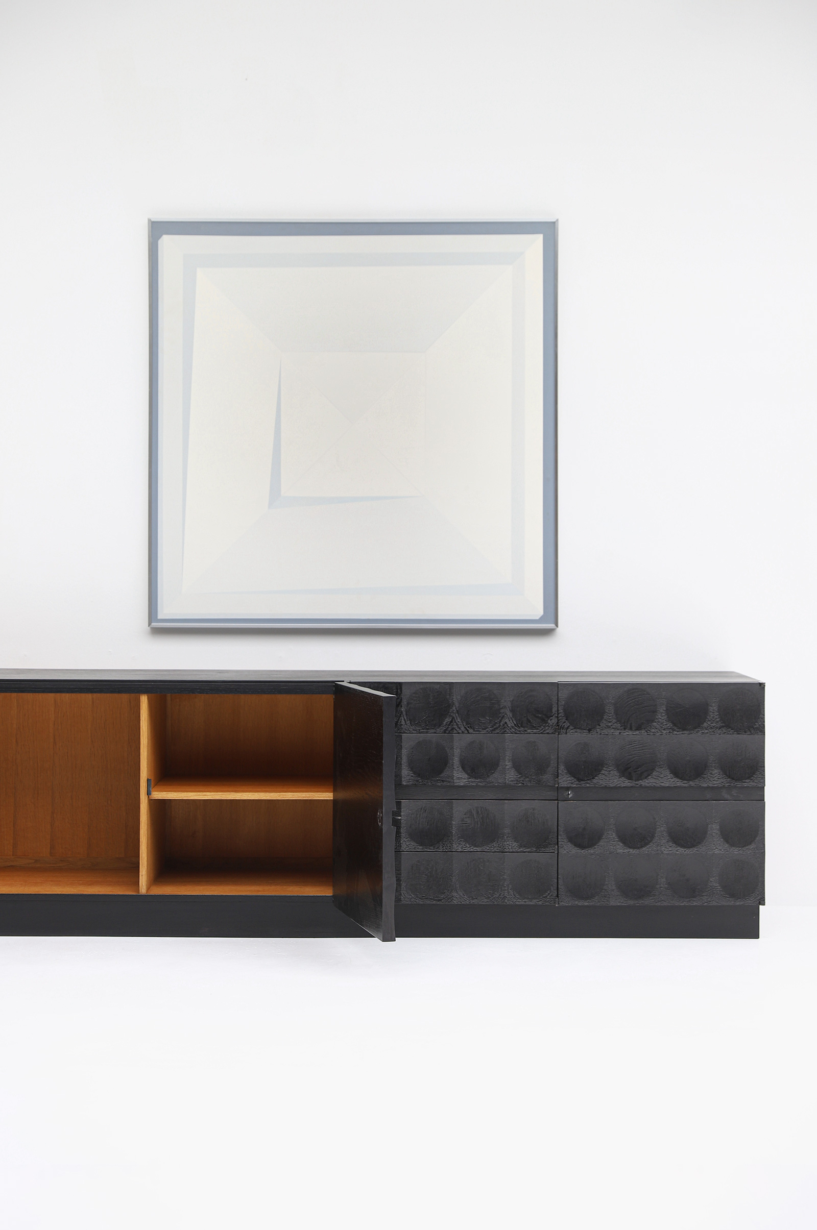 Large Credenza with Graphic Doors circa 1970image 14