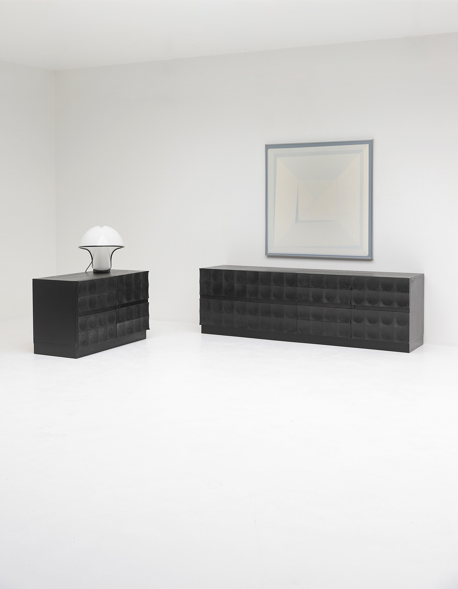 Large Credenza with Graphic Doors circa 1970image 16
