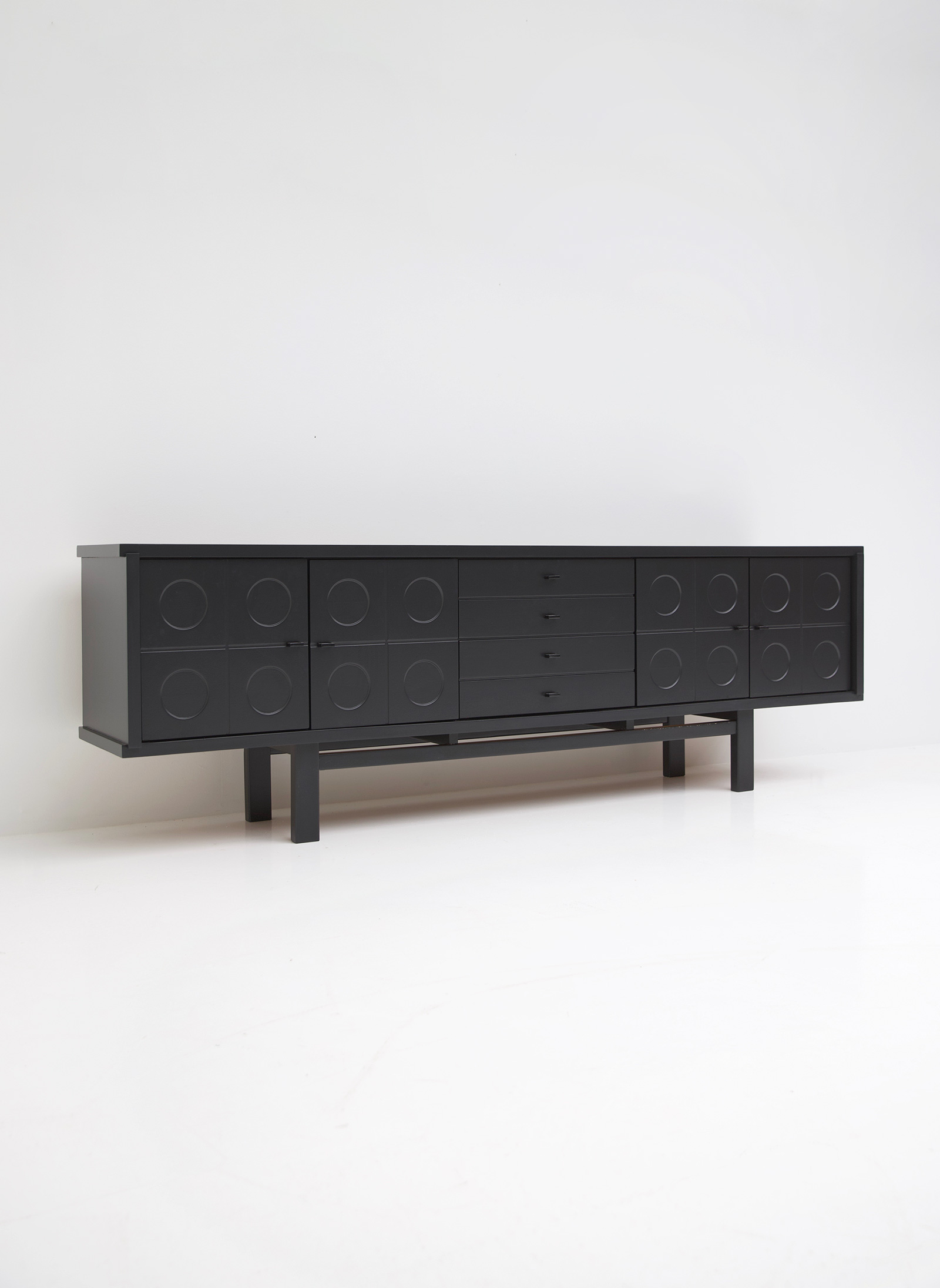 Black Brutalist Belgian Oak Sideboardimage 8