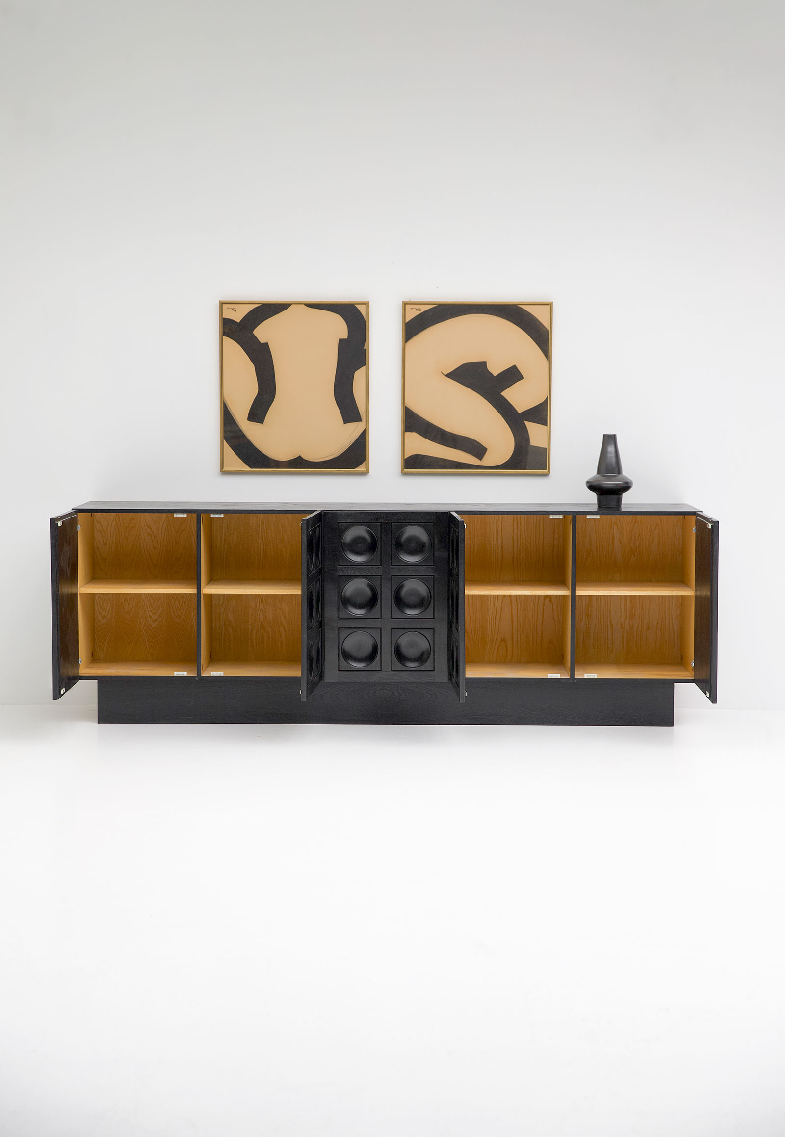 Black Brutalist Ebonised Sideboard image 5
