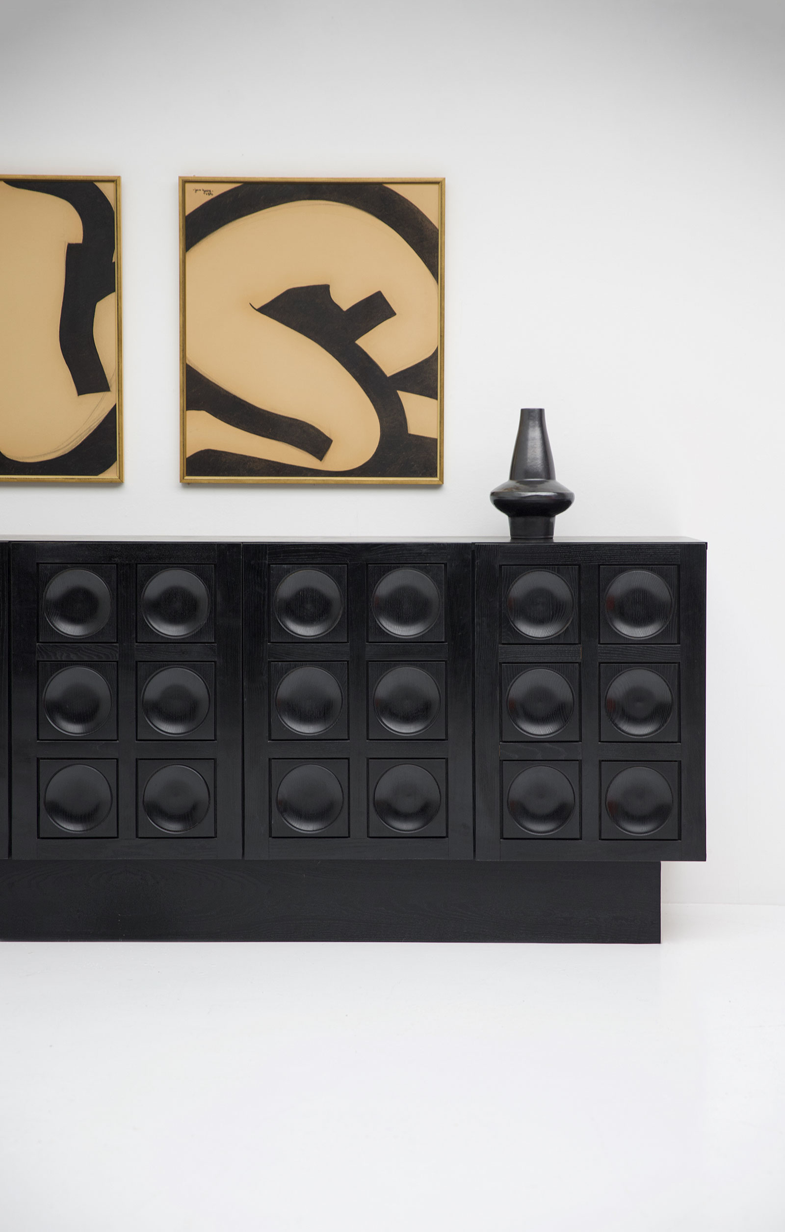 Black Brutalist Ebonised Sideboard image 13