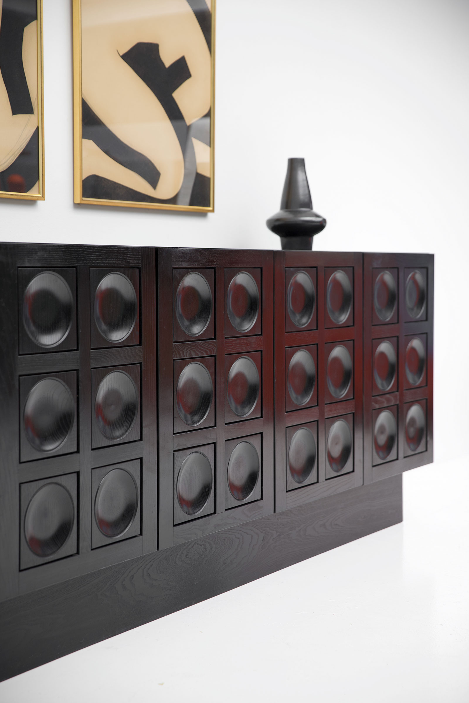 Black Brutalist Ebonised Sideboard image 11