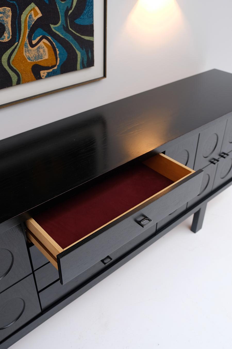 70S Brutalist Belgian Sideboard
