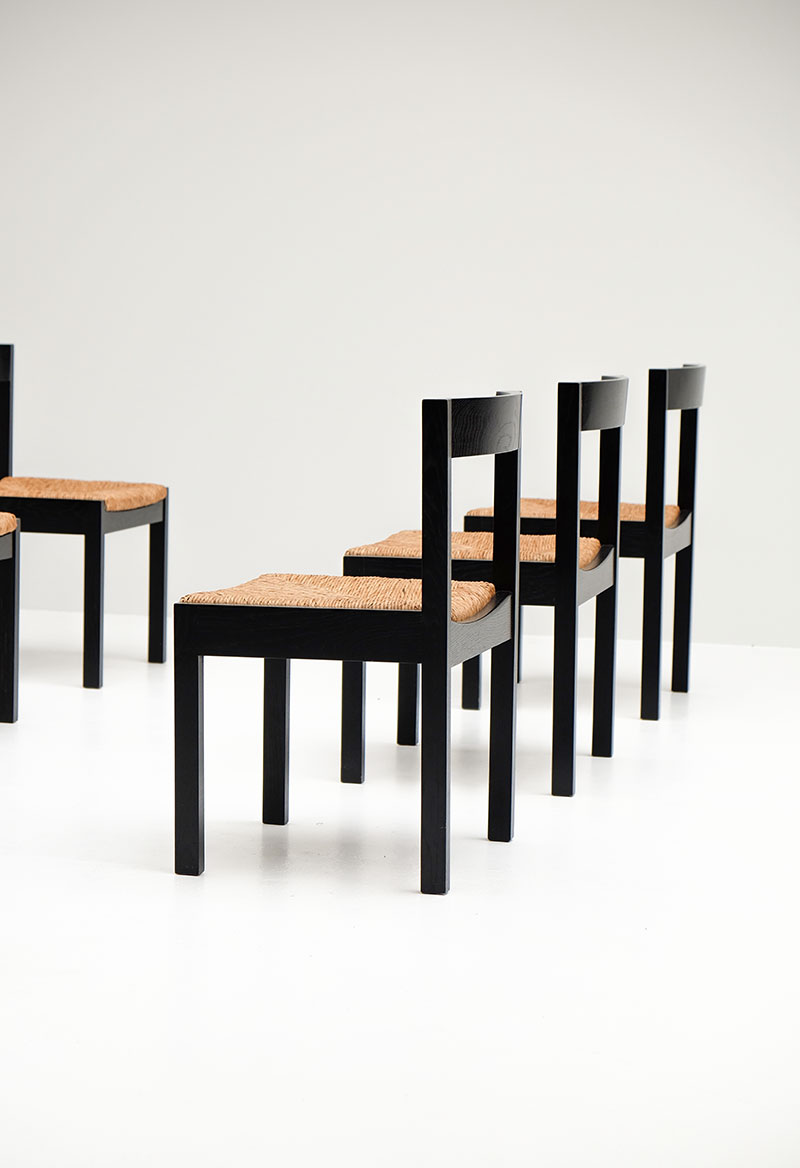 A Set of 6  Rush Seated Chairs  image 10