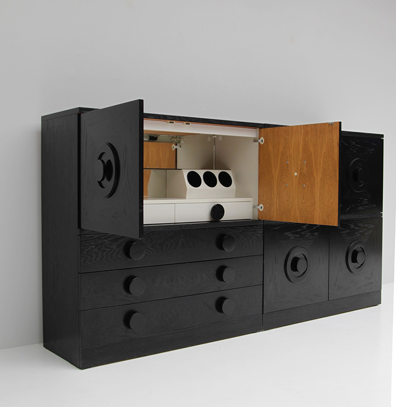 BLACK EBONIZED SIDEBOARDS WITH GRAPHIC DOORS  image 6